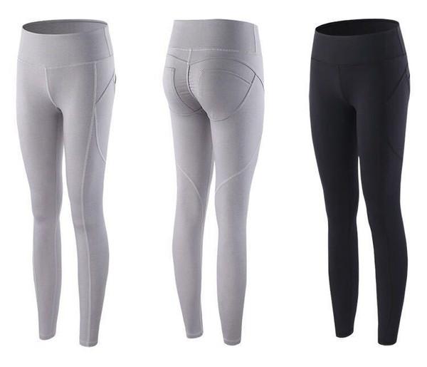 Automne Et Hiver Nouveau Motif Miel Peach Lift Les Hanches Pantalons De Sport Femme Fermer Élastique Force Bodybuilding Yoga Run Pantalon