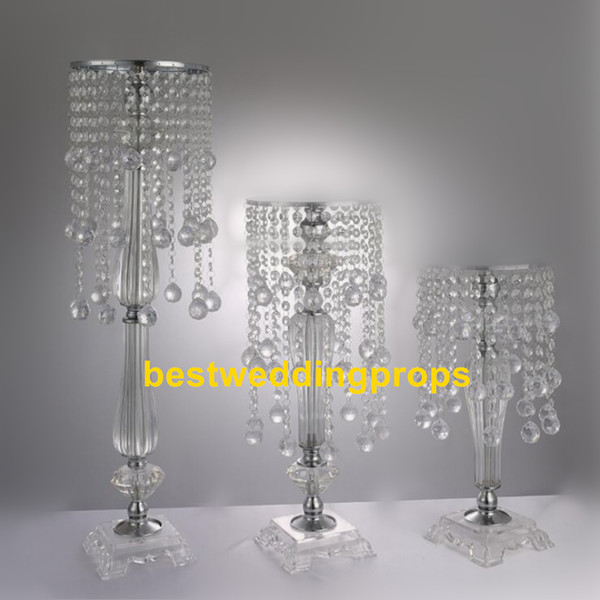 new style crystal acrylic beaded wedding centerpieces flower stand table decor for wedding event party decoration best139