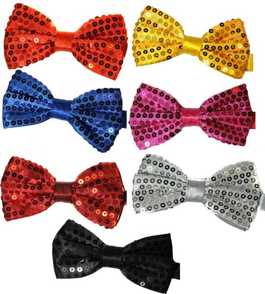2017 New Fashion Shinny Sequin Bow Tie Bowties Adjustable For Women/Men/Girls/Boys/Kids/Children