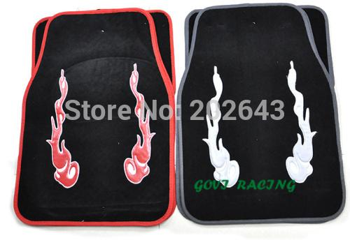 FM005 4pcs rubber Car floor mats universal anti-slip front & rear pedals rubber car foor mats accesorios coche styling