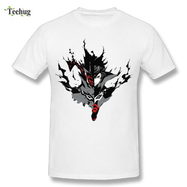 Algodón personalizado Hombre Persona 5 Joker Camiseta Cómoda tela O - Cuello Ocio Camiseta