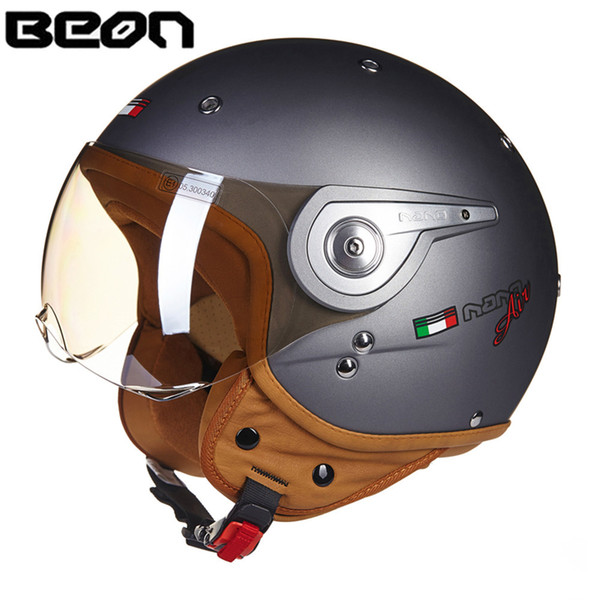 top popular BEON 3 4 Open Face Motorcycle Helmet Chopper Vintage Helmet 110DY Moto Casque Casco motocicleta Capacete Unisex helmets 2021