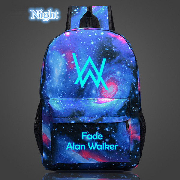 New Luminous Alan Walker Backpack for Teenagers Faded Electronic Music School Bags