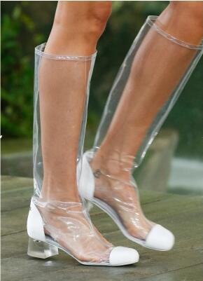 stivali bianchi medi