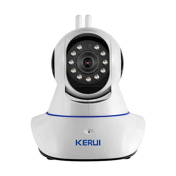 KERUI Cámara IP Inalámbrica WiFi HD WiFi GSM Inicio Intruso Sistema de Alarma Antirrobo Seguridad 720P 3.6mm len Dispositivo de Vigilancia GSM