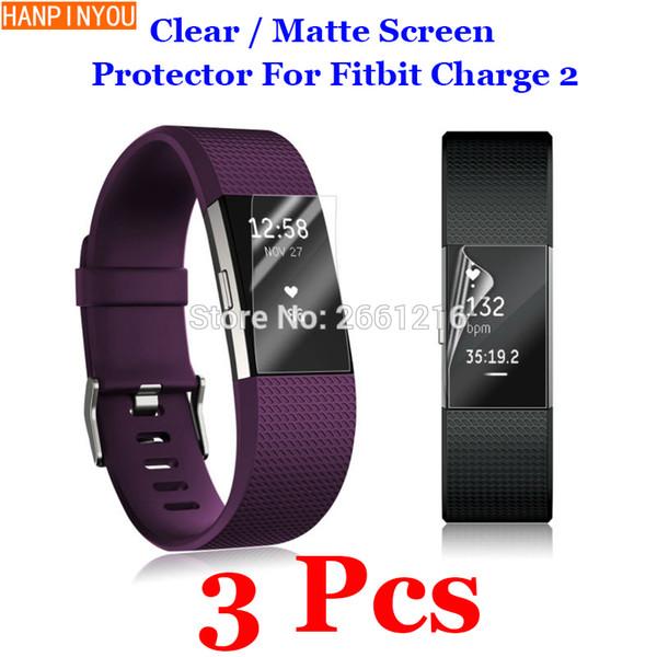 3 Teile / los HD Klar / Blendschutz Matt Anti-Scratch Displayschutzfolie Schutzfolie Für Fitbit Ladung 2 Smart Armband Armband