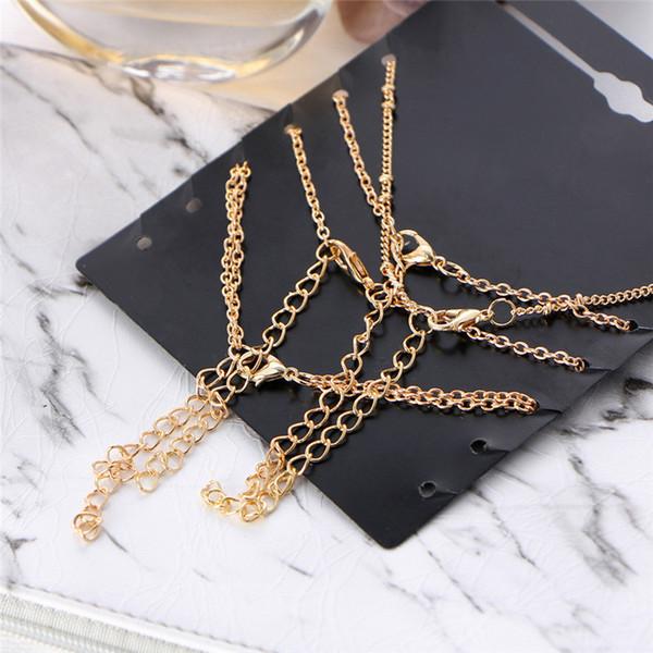 2018 Vintage Sun Leaf Fußkettchen Armband Armreifen Für Frauen Mode Femme Gold Farbe Fußkettchen Armbänder DIY Schmuck Party Geschenke Z3