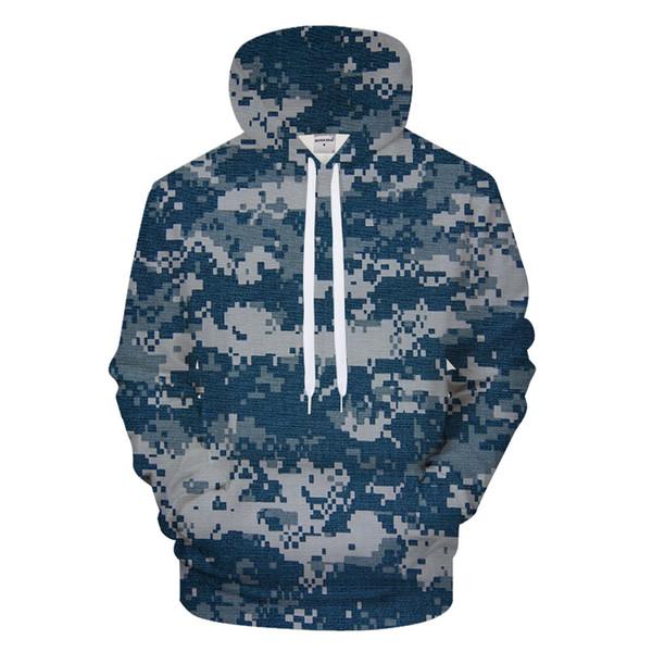 Синий мозаичный узор 3D печати толстовки Мужчины Женщины балахон  повседневная толстовка Грут спортивный костюм пуловер Streatwear 295cfbad09c