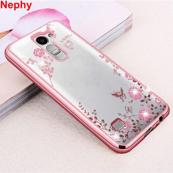 Case For LG G3 G4 G5 G6 K10 G 3 4 5 6 K 10 Dual Mobile Phone Cover Glitter TPU Silicon Casing Housing Beauty Rhinestone