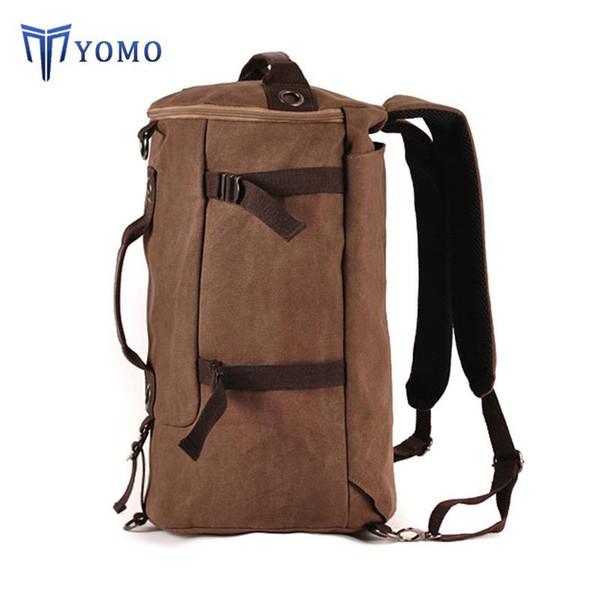 baba102d1fa0fc YM-Backpack men Korean canvas British men backpack tide student sports  backpack outdoor travel backpack
