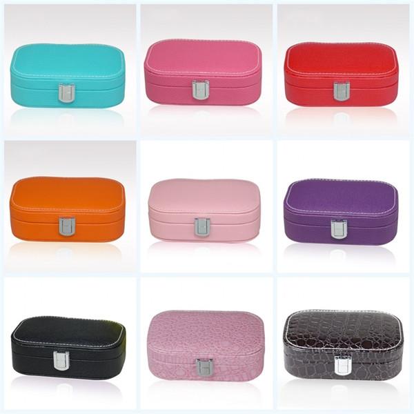 Monolayer Multi Color Storage Box Leatherwear Multi Function Flip Portable High Quality Boxes Creative Square Jewelry Case For Women 15lf jj