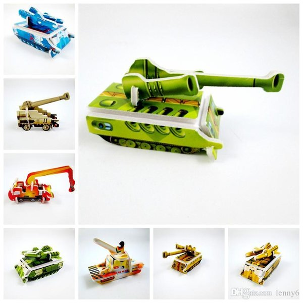 720pcs/lot Mini tank Chariot military Model paper 3D puzzles toys for children gift Intelligence toys