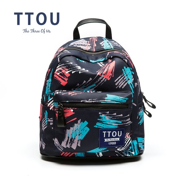 TTOU Fashion Women's bag Floral Printed Backpacks Canvas Backpack Cool school Backpack Brand Design For Teen Girls