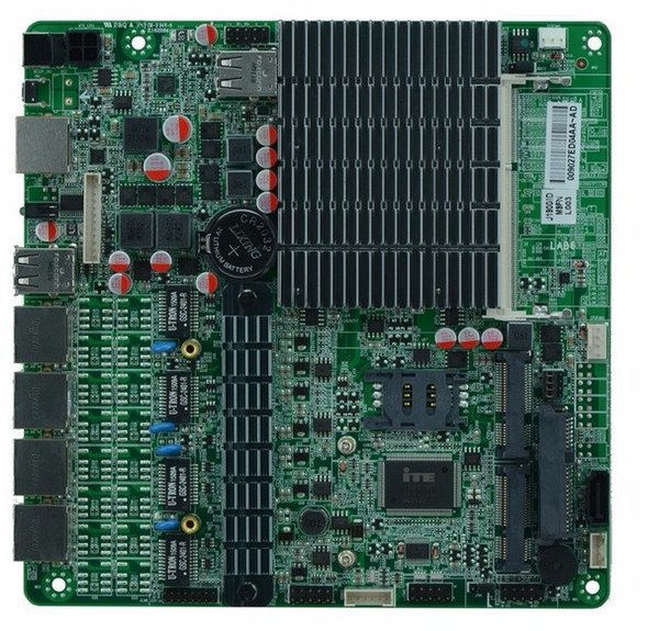 With 4 Intel 82583V Gigabit LAN controllersIntel baytrail J1900 fanless Quad core mini PC/Server motherboard