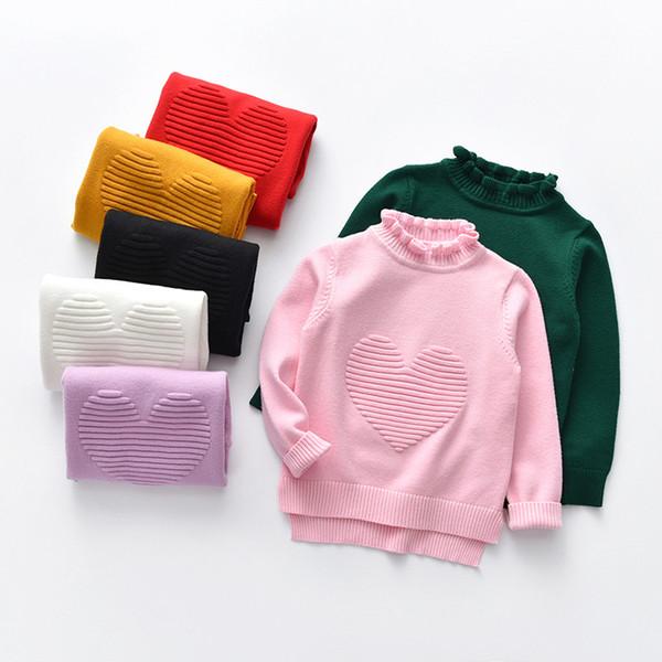 Bebé Niños Niñas Suéter Ropa para Niños 2018 Otoño Invierno Niña Ropa para Niños Suéteres de Punto Soild Suéteres Para Niños