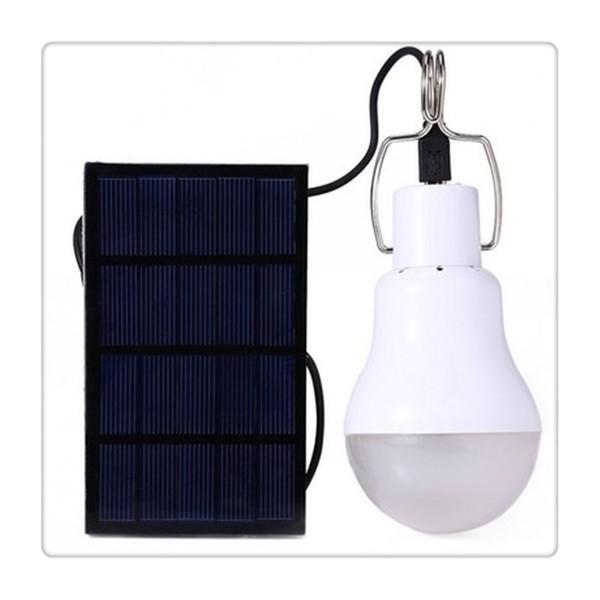 Conveniente Solar Lâmpada LED Branco-1 Portátil 15 W 5 V Para A Decoração Da Casa Ao Ar Livre Luz Camping Barraca Luzes De Pesca Novo