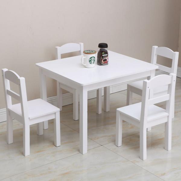 Tavolo Da Cucina Con 4 Sedie.Acquista Completo Bambini In Legno Con 1 Tavolo Da Pranzo E 4