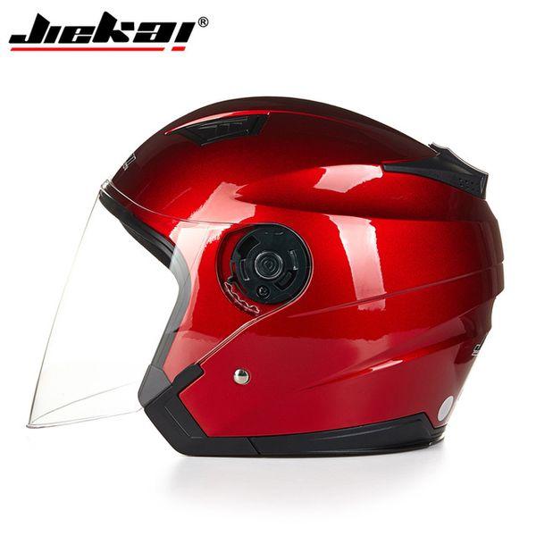 2017 Genuine JIEKAI Helmet Motorcycle Motorbike Dual Lens Summer Winter Open Face Helmet Moto capacete para motocicleta cascK516