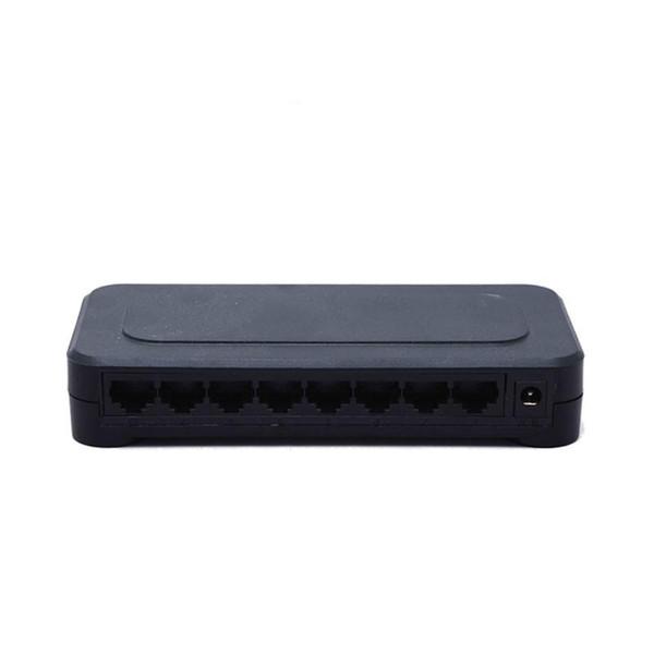 Switch 10 / 100mbps RJ45 8 porte Fast Ethernet Lan Hub US EU Plug 5v Adattatore di rete Adattatore di alimentazione