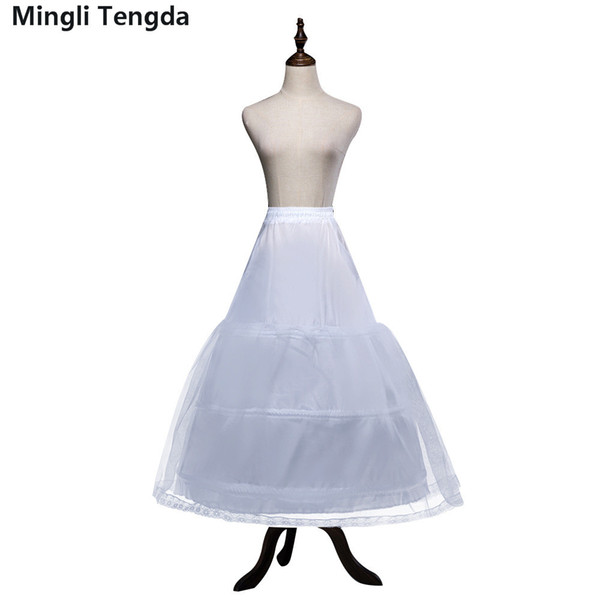 Mingli Tengda 3-Hoops Bone Wedding Dress Petticoat Underskirt Crinoline Petticoats for Ball Gown Dresses Hoepelrok Wedding Accessories
