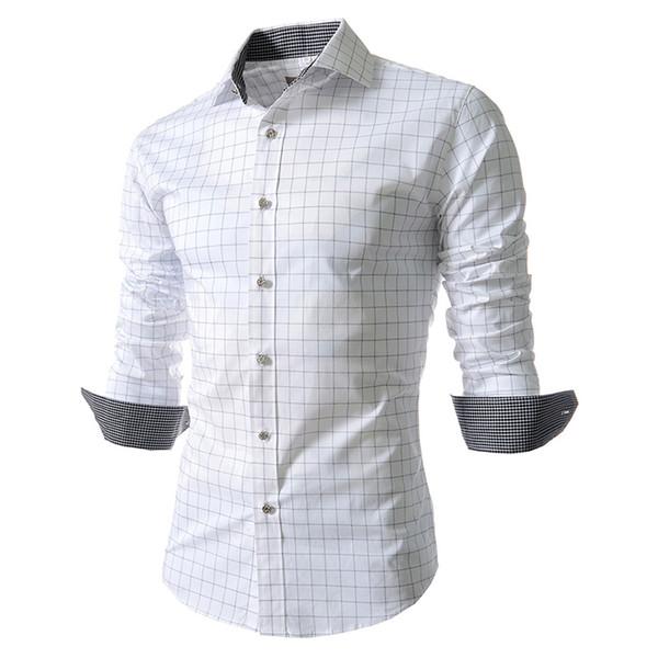 Men Shirt 2018 New Brand Design Spring&Summer Mens Plaid Shirt,Casual Slim Fit Stylish Dress Shirts For Plaid Men Big Size S-4XL