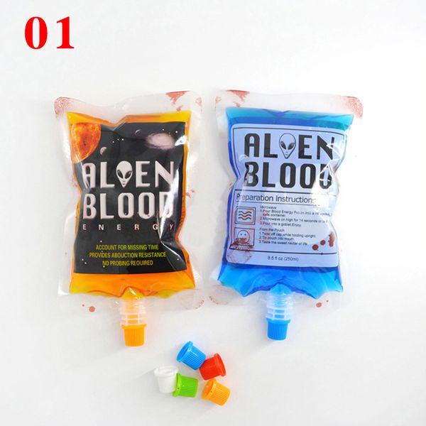 Hot 250ml Blood Energy Drink Beverage Bag Vampires Aliens Blood Bag Cosplay Party Events Decoration Supplies Diy Water Kettle