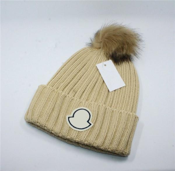ladies faux hats Promo Codes - New Luxury Women Brand Winter Hat Famous  Designer Pom Poms bddaab5ca788