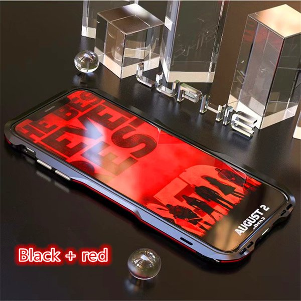 Luxury Aluminum Metal Bumper Case for Apple iphone XS MAX cover Anti-knock Dual color Frame case for iphone XS XR X coque fundas