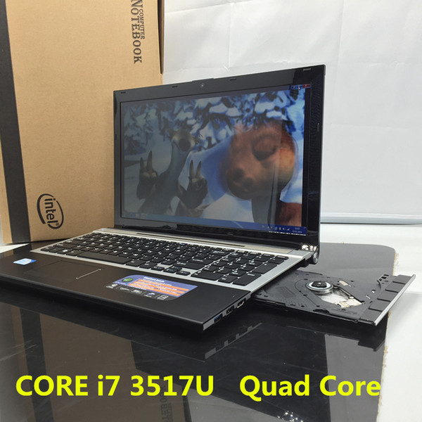 15.6inch In-tel CORE i7 3517U DVD ROM 1920*1080P 8G+128GB SSD Quad Core Fast Surfing Windows 7/8.1 Notebook PC Laptop Computer
