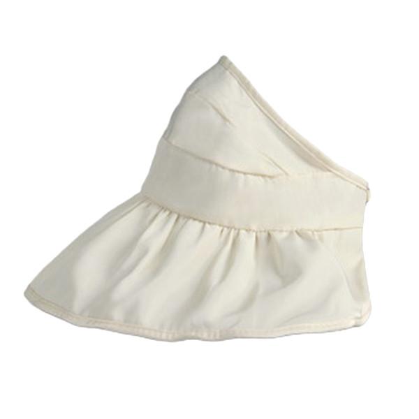 Girls Boys Kids Wide Brim Visor Sun Hat Waterproof UV Protection Foldable Reversible Beach Cap (Milk White)