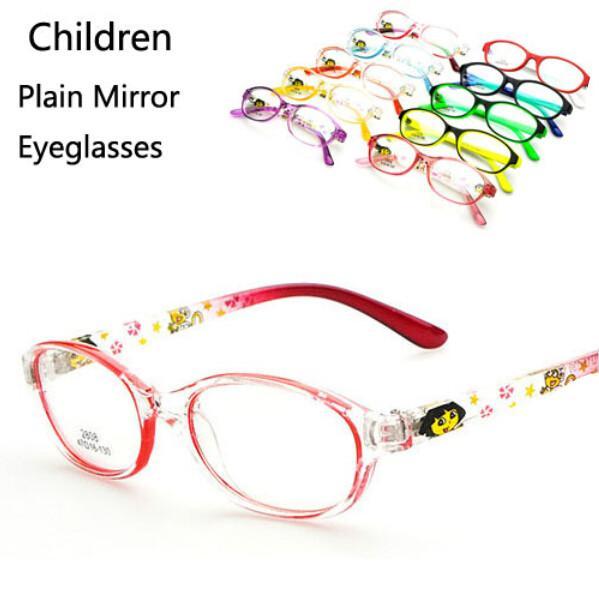 Marcas Sale Rushed Solid 2018 Kids Eyeglasses Frames Diseñador de moda Marca Miopía Gafas de ojo óptico Montura Boy Girl Lens