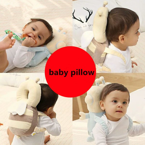 top popular Cute Pillow Newborn Infant Baby Fall Prevention Cushion Pillow Child Head Anti-collision Mat For Baby Head Back Protection 2021