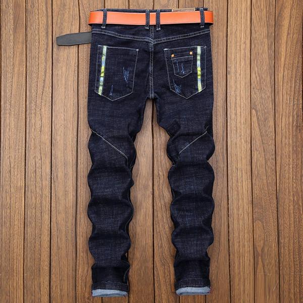 new arrival fashion Casual Pants Men Jeans Autumn Slim Youth Winter cotton high quality men plus size 28 29 30 31 32 33 34 36