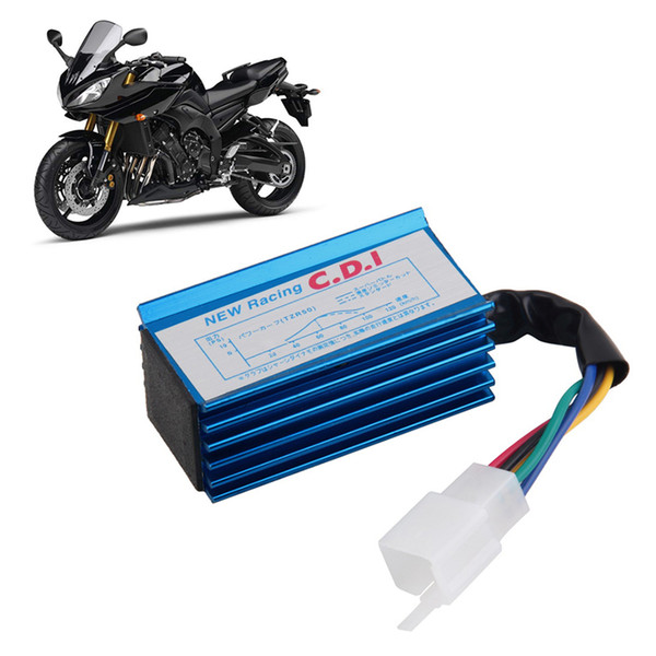 1pc Performance 5 pin Racing CDI Blue Box +Ignition Coil For GY6 Scooter Moped 50CC 70cc 90cc 110cc 125cc 150CC
