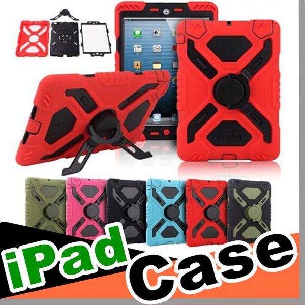 30PCS Pepkoo Defender Spider Extreme Military Heavy Duty Waterproof Dust Shock Proof with stand Hang cover Case For iPad/ipad mini/ipad air