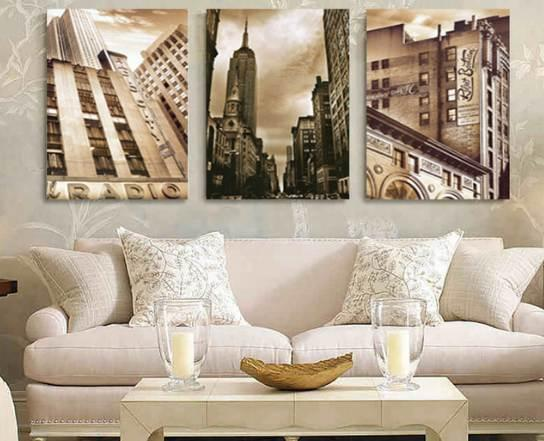 Acquista Home Decor Canvas Painting City Street Wall Art Picture Stampe Su  Tela Quadri Moderni Soggiorno No Frame HY87 A $27.83 Dal Timor_1 | ...