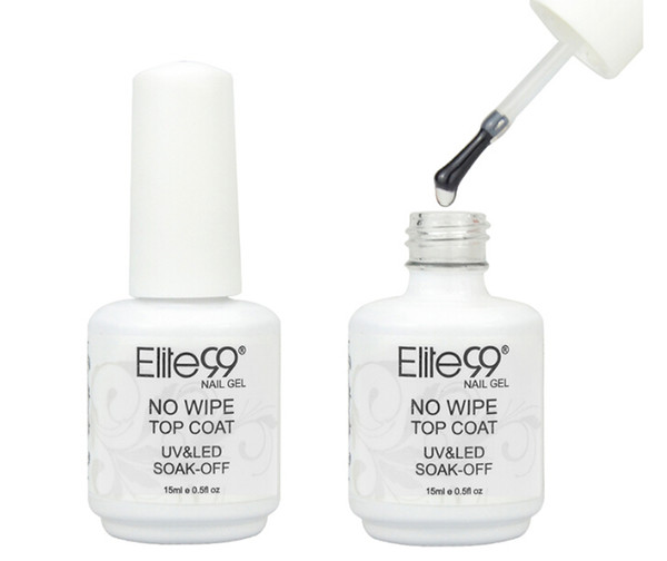 Elite99 Gel Polish No Wipe Top Coat UV LED Gel Polish Sealer Nail Art Salon Shiny Transparent No Cleaning Nail Polish 15ml