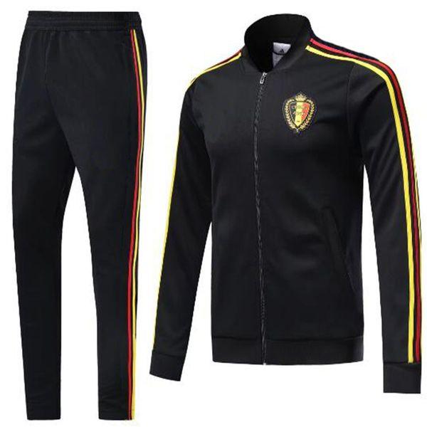 0ab83dec8853 2018 World Cup Training suit adult kits Belgium tracksuit long sleeve spain  training suit LUKAKU HAZARD