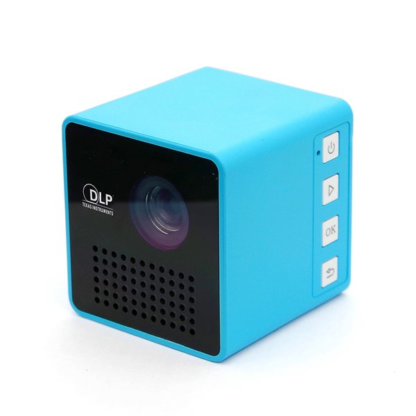 Factory Selling DLP Projector Portable P1 Projector (WIFI Version Option) Full HD USB Mini Beamer Support 70inch 64gTF with 1000mAh Battery