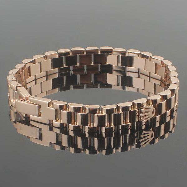 Bracelet de mode en acier au titane 316 bracelet de mode pour hommes et femmes bracelet en or rose 18 carats couple bracelet en acier inoxydable bracelet de montre
