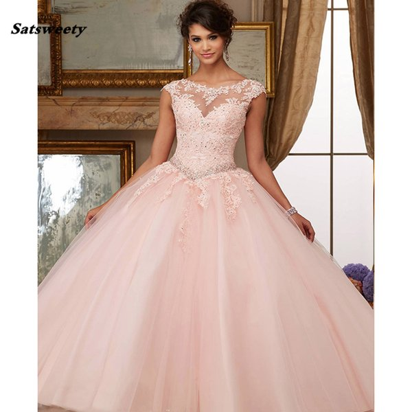 4e1075ad4f9 Organza Lace Beaded Appliques Ball Gown Coral Cinderella Quinceanera Dresses  2019 Sweet 15 Dresses Vestidos De Quinceanera