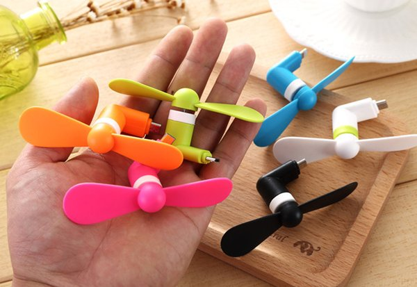 Wholesale Cute Type-c Micro USB 8 Pin Flexible Mini Fans for Samsung Xiaomi Android Type c Phone hand Fan for Iphone X 8 7 plus
