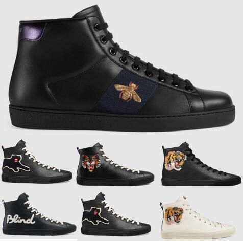 Dernière Hommes Designer Chaussures Blanc Robe Ace Tiger Honey Bee Skate Casual Haut Haut Zapatos Marque De Mode Luxe Streetwear Doux Confortable Chaussure
