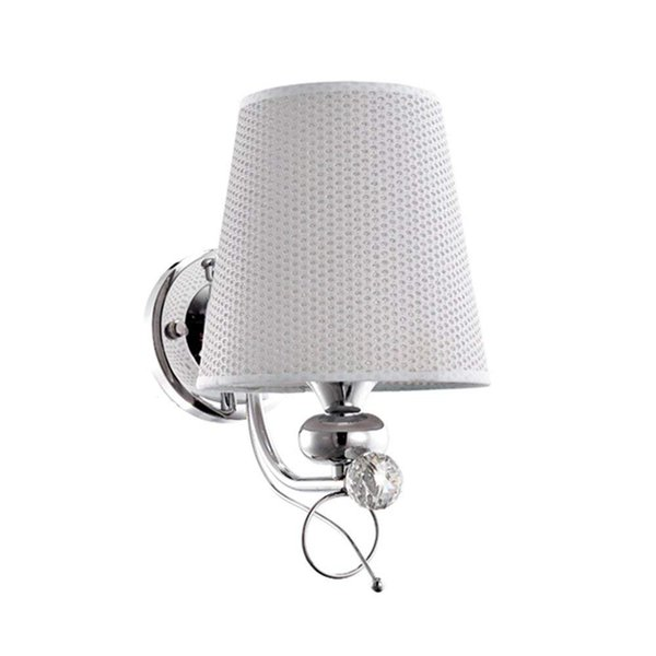 Wall Lamp Switch Simple Bedroom Bedside Lamp Living Room Background Wall Creative Single Head Cloth Lampshade