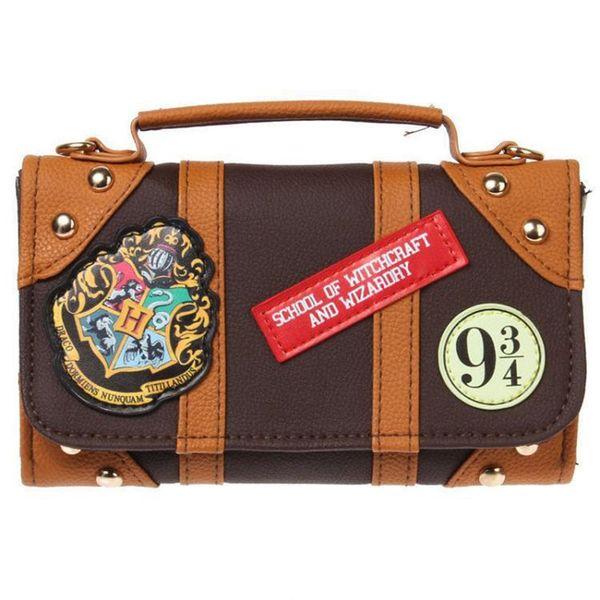Marke Tasche Hogwarts Schule Abzeichen PU Kette Tasche Cute Cartoon Student Clutch Taschen mit Aufkleber Cross Body bag