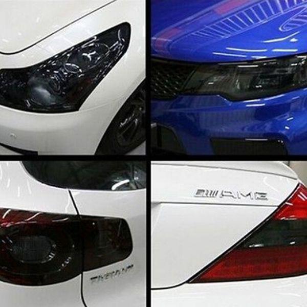 Auto phare de voiture feu arrière changement de couleur noir mat arrière lampe arrière paillettes fumée teinte film wrap vinyle autocollant Styling Accessoires