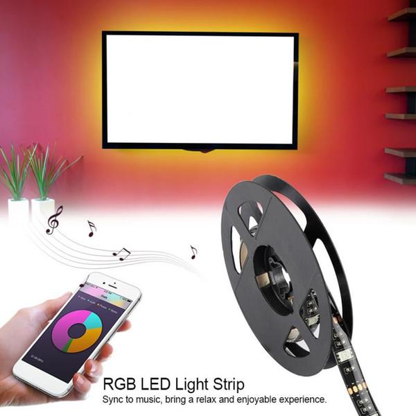 Smart RGB LED Light Strip 5050 1M LED Light Rgb Lighting Bluetooth App  Remote Control Strip Light For TV Background Decorative Blue Led Strip Led
