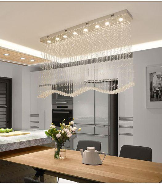 luxury modern wave crystal chandeliers lighting rain drop k9 crystal ceiling lamp for dining room l39.4*w7.9*h39.4 inch