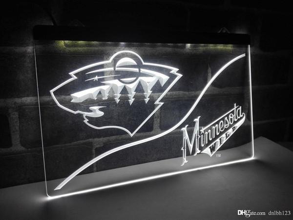 LD536w-Minnesota Wild LED Neonlicht-Zeichen