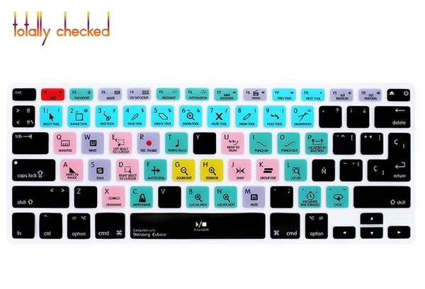 "Steinberg Cubase Spanish Shortcuts Function Silicone Keyboard Cover Protector Skin For Macbook Air Pro Retina 13""15""17EU/US"